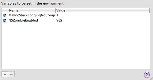 debug environment settings
